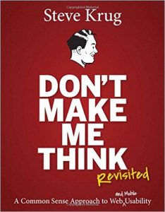 Book cover: dont make me think