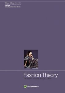 Cover for Fashion Theory magazine