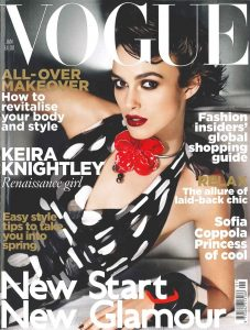 Cover for Vogue UK magazine