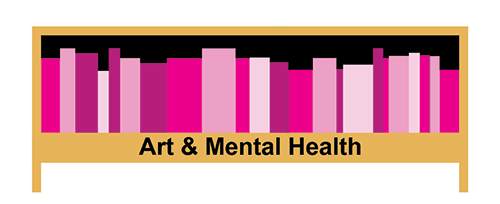 Graphic of Art and Mental Health shelf