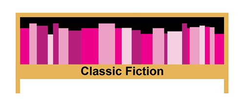 Graphic of Classic Fiction shelf