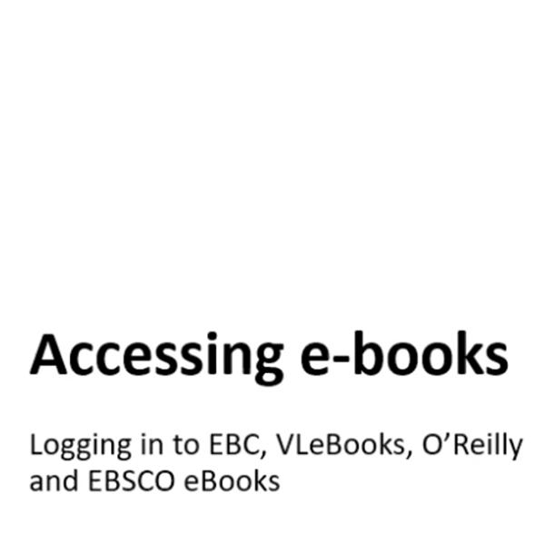 E-books. Logging in to Norwich e-books