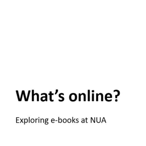 E-books - exploring Norwich's e-books